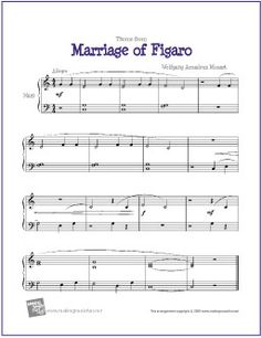 Marriage of Figaro   Free Sheet Music for Harp - Very Easy!