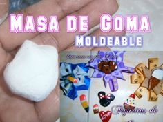 Goma Moldeable Casera PASTA FLEXIBLE / Fimo Casero,Pasta Moldeable