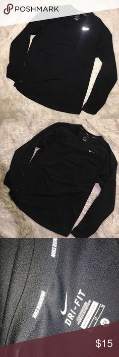 Nike running men's dri fit shirt size medium Great condition Nike Shirts Tees - Long Sleeve