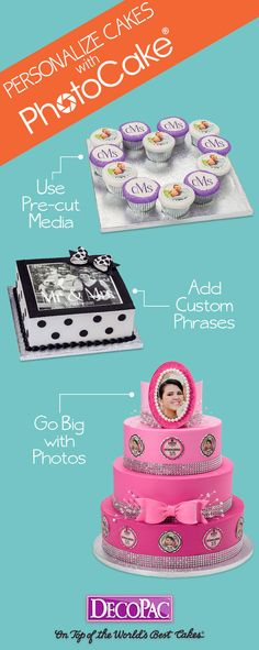 Creating memorable cakes has never been easier than with custom PhotoCake® edible images.