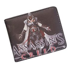 Assassin's Creed Anime Game Bifold Short Wallets Leather PU Purse New