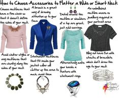 How to Choose Accessories for a Short Neck - what to wear and how to wear it when you have a short or wide neck