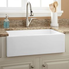 "30"" Risinger Fireclay Farmhouse Sink - Smooth Apron"