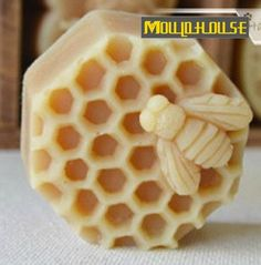 Bee On Honeycomb Flexible Silicone Mold Silicone Mould Soap Mold Polymer Clay Mold Resin Mold wm127 on Etsy, $8.99