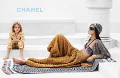 Joan Smalls for Chanel Cruise 2015 by Karl Lagerfeld