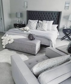 gray and white bedroom ideas on a budgetcozy gray and white bedroom ideas; Bedroom ideas for small spaces; Bedroom decor on a budget; Bedroom decor ideas color schemes bedroomdecor homedecorlook decoration a color grey Gray Bedroom, Master Bedroom Design, Bedroom Inspo, Home Decor Bedroom, Bedroom Ideas Grey, White Grey Bedrooms, Grey Bedroom Furniture, Adult Bedroom Ideas, Rustic Grey Bedroom