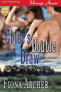 Chloe Morgan fled to King's Bluff, Wyoming, seeking a new life, not imagining it would include being charmed by two Aussie Ex-SAS ranchers. Doms Noah King and Flynn Taylor recognize a woman hiding secrets and are determined to win her trust. When Chloe's past threatens their future, nobody could have imagined how high the stakes would go.   http://www.amazon.com/Chloes-Double-Wyoming-Publishing-ebook/dp/B00ATSUJL8/ref=sr_1_1?ie=UTF8=1356662014=8-1=chloe%27s+double+draw