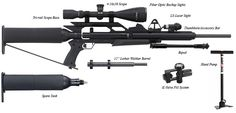 Airforce Ultimate Condor Air Rifle Combo - can be refilled with the hand pump, multiple calibers