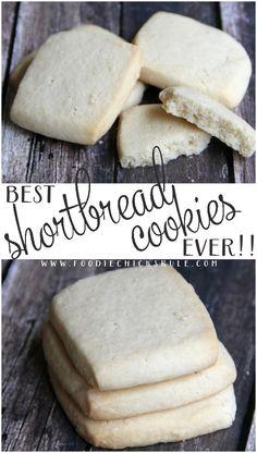 Best Shortbread Cookie Recipe Ever! - - Best Shortbread Cookie Recipe Ever! Brownie Cookies, Chocolate Chip Cookies, Yummy Cookies, Sugar Cookies, Icebox Cookies, Tea Cookies, Fall Cookies, Chocolate Ganache, Best Shortbread Cookie Recipe