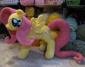 Fluttershy from My Little Pony pattern by The Nerdy Knitter Crochet Animals, Crochet Toys, Crochet Baby, Crochet Things, Peppa Pig, Holly West, Pink Lemon, Crochet Unicorn, Crochet Round