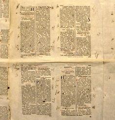 Renaissance printer's proof sheet. The Plantin-Moretus Museum, Antwerp. Photo: Michael Strukov.