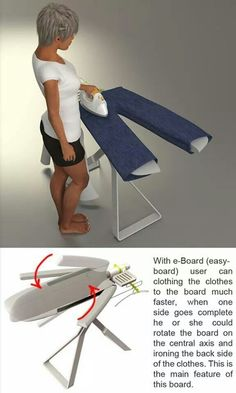 Easy ironing board