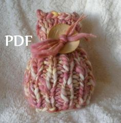 INSTANT DOWNLOAD Chunky Ribbed Vertical Baby Hat Knitting Pattern, PDF 311 -- for Thick Thin Hand Dyed Yarn -- over 16,000 patterns sold