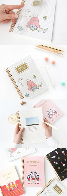 Gold accents, cute characters, and colorful designs really make this notebook POP! This notebook will make studying and working SO much more fun!!