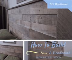 Pallet headboard project from The Saw Guy