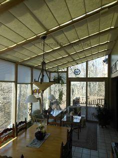 Screen Shades In Curved Four Seasons Sunroom Sunroom