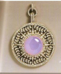 Moonstone and diamond pendant by Faberge; owned by Empress Marie Feodorovna.