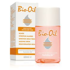 Bio Oil.  New Beauty Magazine Best Oils for the Body. (Good for stretch marks) Key Oils: Lavender and rosemary oils and purcellin oil. A cult-classic South African find for preventing stretch marks and keeping the skin smooth and soft, Bio Oil claims to provide intense moisture to guard against water loss. The vitamin blend in the dry oil helps to strengthen and firm weak skin.