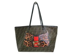 #FENDI Tote Bag Zucca Mamma Baguette PVC/Enamel Khaki/Brown 8BH185(BF107761): All of #eLADY's items are inspected carefully by expert authenticators who have years of experience. For more pre-owned luxury brand items, visit http://global.elady.com