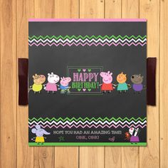 Peppa Pig Candy Wrapper Chalkboard Peppa Pig by SometimesPie Candy Bar Labels, Candy Wrappers, Pig Birthday, Birthday Ideas, Pig Candy, Chocolate Wrapping, Peppa Pig, Party Favors, Chalkboard