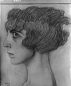 Marchesa Luisa Casati portrait by Leon Bakst 1912