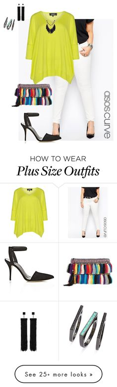 """""""plus size beyond diva"""" by kristie-payne on Polyvore featuring ASOS Curve, navabi, Alexander Wang, Christophe Sauvat, Kendra Scott and Tom Ford"""