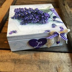 Wooden lavender boxDecoupage box decorated by DumontsHandicrafts
