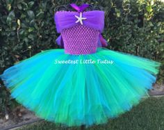 Ariel Tutu Dress/ The Little Mermaid Tutu by SweetestLittleTutus- This would be perfect for the Trick or Treat Trail Run 2018!