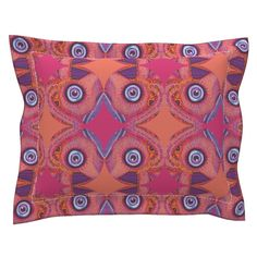 Sebright Pillow Sham with Flanged Detail featuring Popiutu by joancaronil | Roostery Home Decor