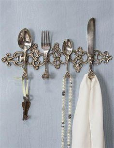 Silverware Hanging Rack from Victorian Trading Co.