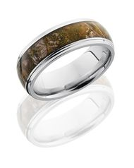 I love the idea of having a unique and creative wedding band.  My wife and I love the outdoors.  Having a camo ring would be a great reminder of what's really important in life.