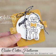 nice people STAMP!: Cookie-Cutter Halloween Tag: Holiday Premiere Make n' Take #3 by Canadian Stampin' Up! Demonstrator Allison Okamitsu. www.NicePeopleStamp.com