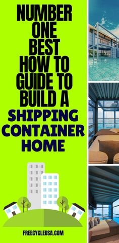 When building a shipping container home, there are several things you need to know to ensure your home is structurally sound, sustainable, and beautiful. Shipping Container House Plans, Building A Container Home, Man Caves, Creative Home, Pretty Cool, Number One, Sustainability, Building A House, How To Plan