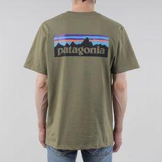 Patagonia P6 Logo T-shirt - Fatigue Green at Urban Industry