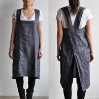 The Hearty Home: A Japanese Style Apron Tutorial Sewing Aprons, Sewing Clothes, Diy Clothes, Japanese Apron, Japanese Style, Pinafore Apron, Pinafore Pattern, Apron Tutorial, Diy Vetement