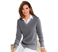 Klasický pulóver Collection L. Pullover, Hoodies, Sweaters, Collection, Products, Fashion, Gray, Moda, Sweater