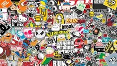 sticker bomb HD Wallpapers Download Free sticker bomb Tumblr - Pinterest Hd Wallpapers