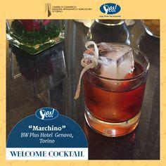 """Oggi è il turno del BW Plus Hotel Genova, che per il suo cocktail ha utilizzato il Vermouth rosso e un vino tipico del nostro territorio!  Il nome del cocktail è """"Marchino"""", ecco la ricetta:   50ml Vermouth Rosso Riserva Carlo Alberto 25ml di Liquore al Sambuco Edel Flower 5ml 6PM Aperitivo Montanaro o liquore Select 20ml di Freisa di Chieri Frizzante DOC Tecnica: build cocktail  Bevi responsabilmente, scegli la qualità!"""
