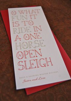 Tall Type Holiday Cards in Red