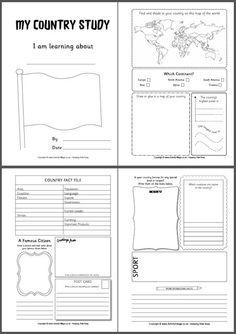 simple country study printables for all ages