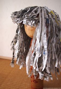 Newspaper Wigs
