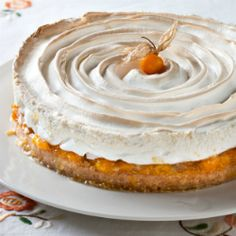 Scrumptious South Africa: Cape Gooseberry Meringue Pie, from my new cookbook Gooseberry Recipes, Cape Gooseberry, Sweet Pie, Sweet Tarts, Meringue Pie, French Meringue, South African Recipes, New Cookbooks, Dessert Recipes