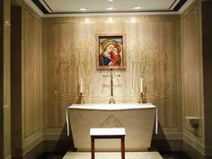 """""""Our Lady of Good Counsel"""" Interior of the Basilica of the National Shrine of the Immaculate Conception - Wikimedia Commons"""
