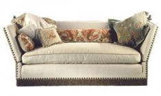 Knole Sofa. This may be purchased on ecofirstart.com ~ Different pillows will change the whole look of this sofa!