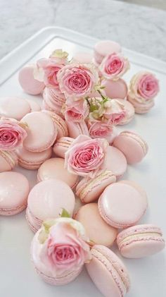 These beautiful pink macaroons. These beautiful pink macaroons. Macarons Rose, Pink Macaroons, French Macaroons, Couleur Rose Pastel, Pastel Pink, Blush Pink, Pink Love, Pretty In Pink, Pink Foods