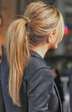 Hair style:  Messy Ponytail