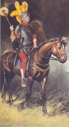 Roman auxiliary cavalryman.