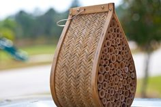 Beekeeping is as easy as this $ 17 bee house. Mason bees are very gentle!