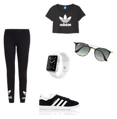 """Style #9"" by saric-fahreta ❤ liked on Polyvore featuring adidas Originals, adidas, Ray-Ban and Apple"