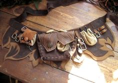 Leather Utility belt - like something tinker bell would wear